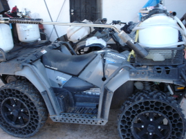 Customized ATV.